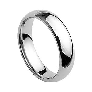 SJ Fashion 6mm Tungsten Men's Plain Dome Polished Wedding Band Ring Size 9.5