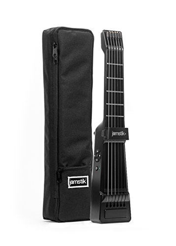 Jamstik+ Black Portable App Enabled MIDI Electric Guitar, for Beginners and Music Creators with Carrying Case, iOS, Android & Mac Compatible with Bluetooth Connectivity, Powered by Zivix