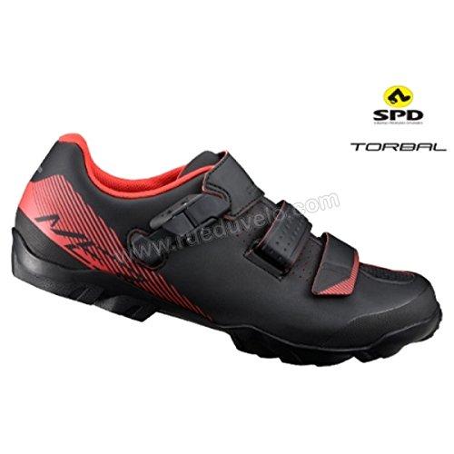 SHIMANO SHME3PG370SO00 - Zapatillas ciclismo, 37, Negro - Naranja, Hombre