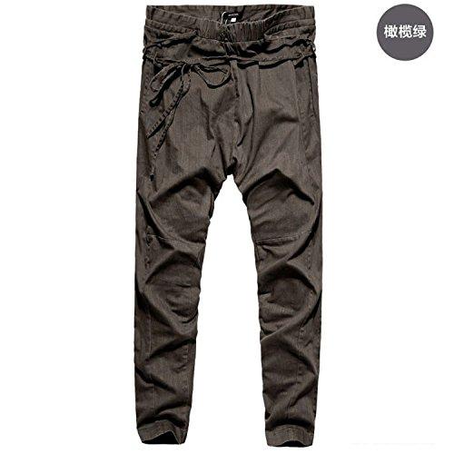 Welcometoo Men Harem Pants Casual Sagging Pants Men Trousers