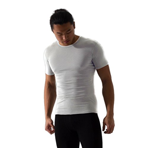 Mens Element Short T-shirt (Element Pure Men's Premium Ultrafine Tencel Nanofiber Odorless Soft Crew T-Shirt (M))