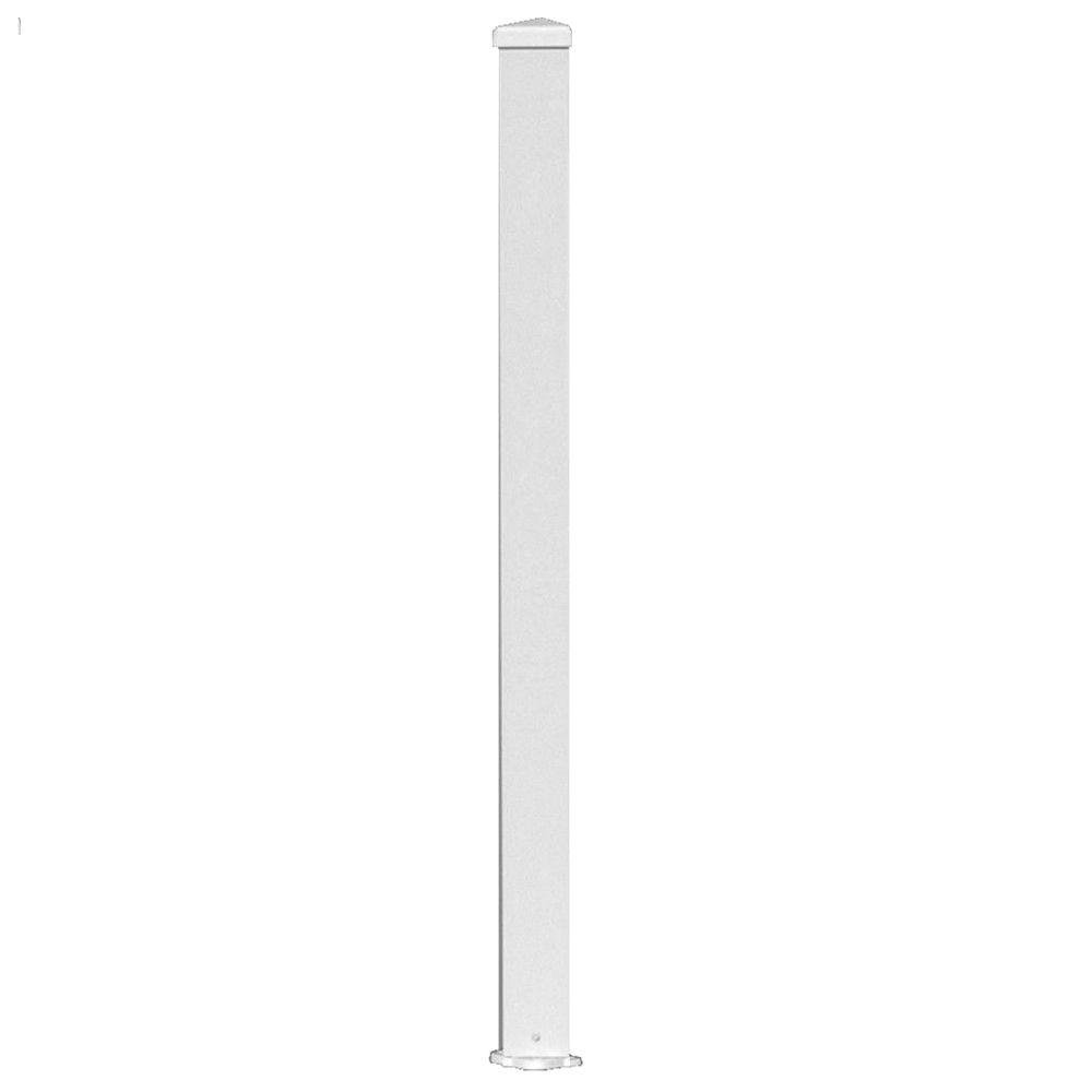 3 in. x 3 in. x 38 in. White Aluminum Post Kit