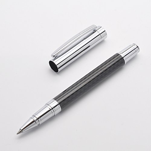 LACHIEVA Carbon Fiber Roller Pen with Nice Box Pack Germany Schneider Refill - Perfect for Gifts