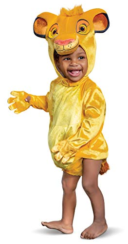 Disguise Baby Boys Simba Infant Costume, Beige,