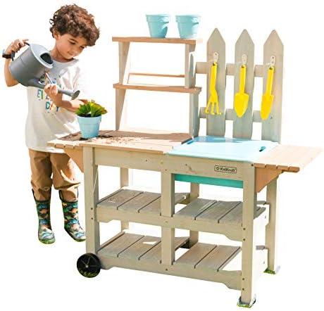 KidKraft 415 Greenville Table de jardinage pour enfant 7 accessoires inclus