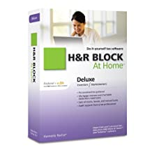 H&R Block At Home 2010 Deluxe Federal + Efile [Old Version]