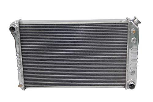 (Polished KKS162 3 Rows Aluminum Radiator Fit 1973-1988 Chevy Pickup Trucks C/K Series)