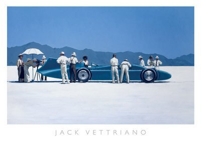 Bluebird at Bonneville' di Jack Vettriano - Stampa artistica 70 x 50 cms (im. 65 x 41 cm) Heartbreak Publishing