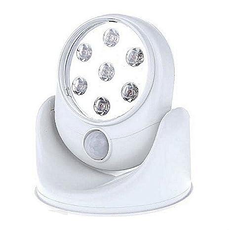 sinomann @ Sensor de movimiento luz 360 ° rotación 7 LED Detector de movimiento activado seguridad