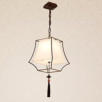 Lámpara de techo de tela, dormitorio moderno Simple y ...