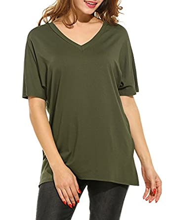 Meanoer Woman 39 S Oversized Tunic Tops Loose Fit Flowy T