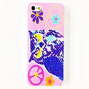 GONGXI- Configuración de signos Punk paz de la flor del búho Caso suave de TPU para el iPhone 4/4S , Multicolor