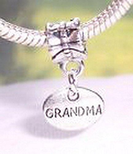 Glamorise Beads #13636 Grandma Oval Medallion Grandmother Small Dangle Bead for European Charm - Bracelet Oval Dangles