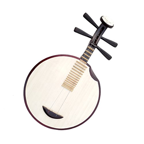 OrientalMusicSanctuary Hardwood Yueqin - Chinese Banjo for for Ensemble and Chinese Opera by OrientalMusicSanctuary
