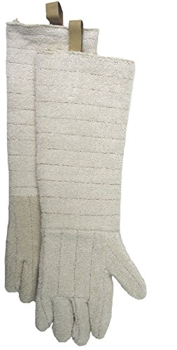 Carolina Glove /& Safety FWE7305712 Pair of Flame Resistant Terry Gloves Large 12 Gauntlet Cuff White