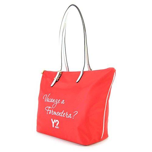 Borsa Shopping media Y Not Linea Bali colore Rosso