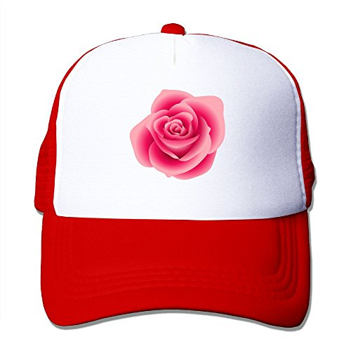 Pink Rose Clipart - Trucker Cap Real-pink-rose-clipart-1 Two-Tone Stretch Mesh Fitted Hat