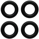 Body Candy 4 Gauge Black Rubber ORing 4 Pack