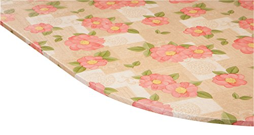 Miles Kimball Spring Poppy Vinyl Elasticized Table Cover by HSK 42