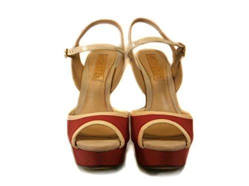 Schutz - Sandalias de vestir de Piel para mujer * Rojo