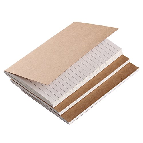 Refill Inserts for Pocket Leather Travelers Notebook 5.2 × 4 - Set of 3 - Line