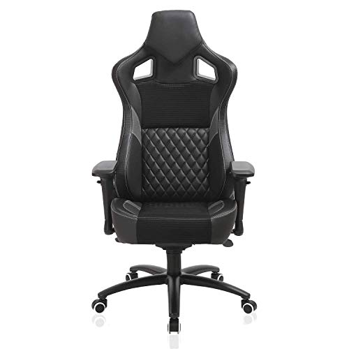 Gaming Chair, Office Chair PC Racing Computer Game Chair High Back PU Leather Desk Chair Ergonomic Adjustable Swivel…