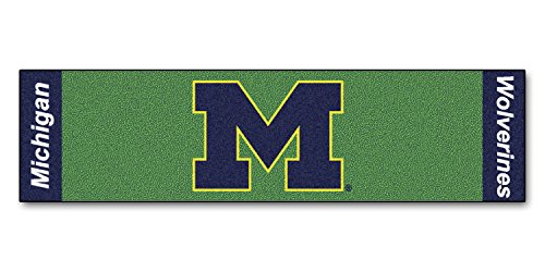 Fanmats Home Indoor Sports Team Logo Michigan Putting Green Runner