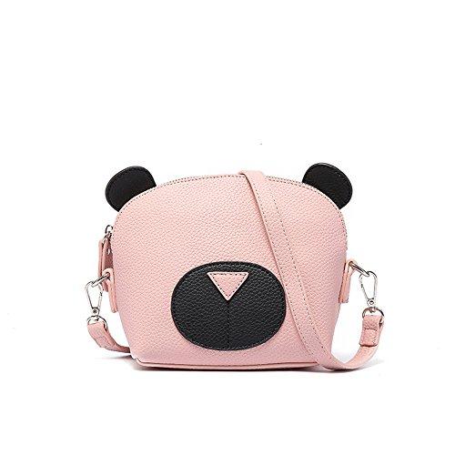16 Bandoulière Femme À Shopping Shell Pink Messenger 16cm Sac College Couture 10 5 Ours Couleur Pu couleur Mini Mignon Noir Bag Taille Main Sauvage Pour tEwdZqRd