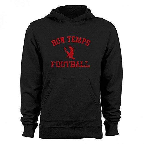 GEEK TEEZ Bon Temps Football Men's Hoodie Black Large (Bon Hoodie Football Temps)