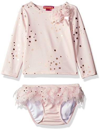 Kate Mack Baby Girls' Fairy Dance Rashguard and Skirted Swim Bottom, Pink, 24 (Mack Bow Kate)