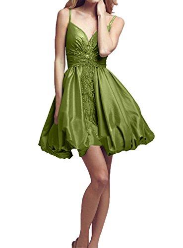 Neu Pink Damen Olive Tanzenkleider Spaghetti Mini Abendkleider Traeger Partykleider Cocktailkleider Gruen Charmant zA1UFqwZq