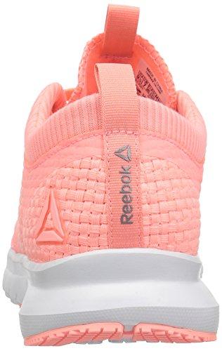 Reebok Damesprint Athlux Weave Sneaker Gefluister Grijs / Zuur Meloen / Tin