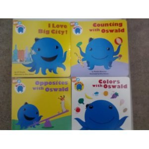 4 Books - Oswald Colors, Counting, Opposites & I Love Big City