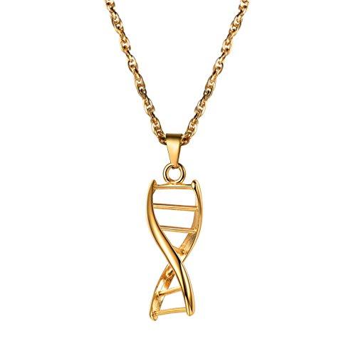 ProSteel DNAペンダントネックレス科学者BiologyチャームChemistry彼/彼女へのプレゼント