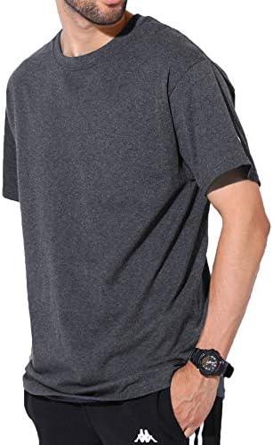 Authentic ベーシックTシャツ メンズ 半袖 コットン 無地 XL チャコールグレー
