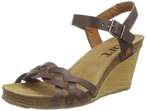 Art VALBY, WoMen Wedge Heel Open Sandals Brown - Brown