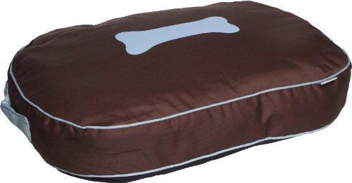 Kakadu Pet Urban Extra Large Dog Bed Pillow, Chocolate and Duck Egg, Brown/Blue, My Pet Supplies