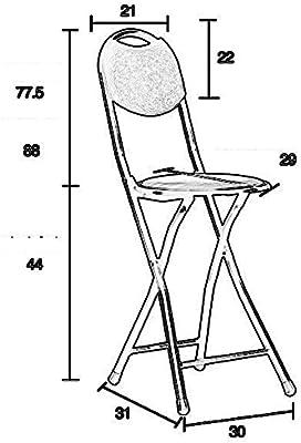 Mazhong Tabourets Chaise Pliante Simple Maison Portable à