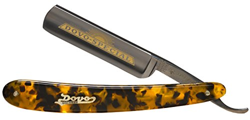 Dovo Special 1516580 5/8'' Carbon Steel Straight Razor, Full Hollow Ground, Faux Tortoise Scales (Shave Ready Option) (Shave Ready, Unsealed) by Dovo