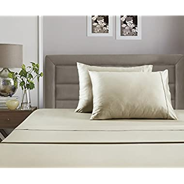 #1 Best Seller Luxury Pima Sheets on Amazon! - Unbelievable Lowest Prices Guaranteed - Record Single Day Blockbuster Sale: Luxury 100% Pima Cotton Solid 350 Thread Count Sheet Set (Queen, Ivory)