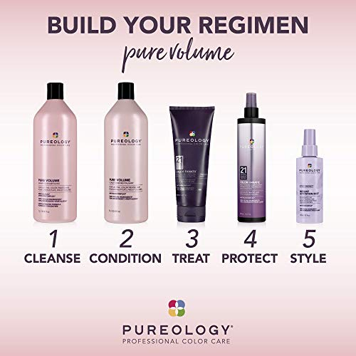 Pureology Pure Volume Conditioner   For Flat, Fine, Color-Treated Hair   Restores Volume & Movement   Sulfate-Free   Vegan 5