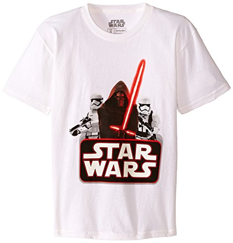 Star Wars Boys' Kylo Ren T-Shirt, Evil White, Small