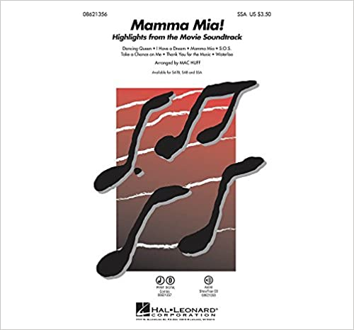 Book Hal Leonard Mamma Mia! (Highlights from the Movie Soundtrack) SSA by ABBA arranged by Mac Huff