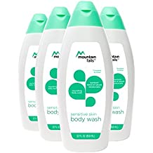 Mountain Falls Body Wash for Sensitive Skin, with Nutrilock Blend of Natural Moisturizers, Compare to Dove, 22 Fluid Ounce (Pack of 4)