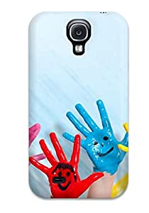 Egbert Drew's Shop Best High-quality Durable Protection Case For Galaxy S4(colorful Happy Hands) 1861706K56433920