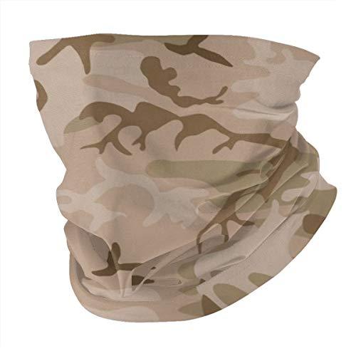 Modern Tan Green Desert Military Camo Camouflage Unisex Microfiber Face Mask Headband Bandana Head Wrap Scarf Neck… 2