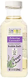 Aura Cacia Aromatherapy Bubble Bath, Relaxing Lavender, 13 fluid ounce bottle (Pack of 3)