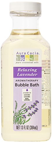 [Aura Cacia Aromatherapy Bubble Bath, Relaxing Lavender, 13 fluid ounce bottle (Pack of 3)] (Aromatherapy Bubble Bath)