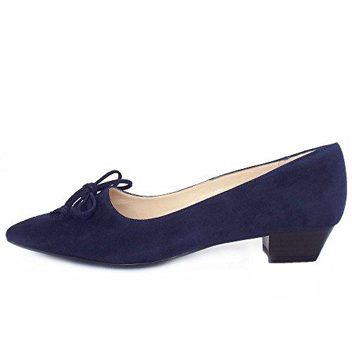 Lizzy Daim Chaussures Bas Kaiser Fait Noir En Talons Suede Peter Navy pqa7UU