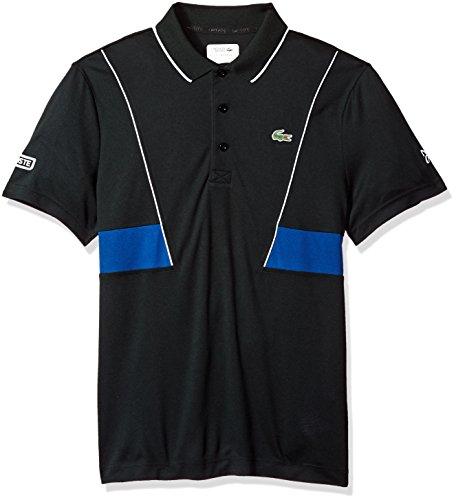 Lacoste Mens Short Sleeve Pique Ultra Dry Contrast Broken Yoke & Piping Polo, DH3325